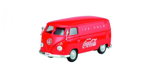 Coca-Cola VW 1962 VW Transporter Cargo Van Red 1:43 Motorcity Classics 430004