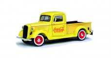 Coca-Cola 1937 Ford Pickup Yellow Diecast Model 1:24 Motorcity Classics 433213