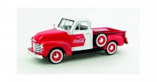 Coca-Cola 1953 Chevy Pickup Truck Red White 1:32 Motorcity Classics 440664