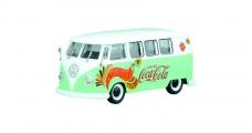 Coca-Cola VW 1959 Kombi T1 Green White1:43 Motorcity Classics 478064