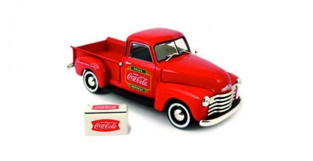 Coca-Cola 1953 Chevrolet pickup Red 1:43 Motorcity Classics 478104
