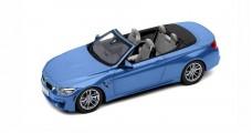 BMW M4 Cabriolet F33 2014 Marina Blue 1:18 Paragon 80432339612