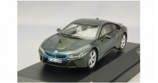 BMW i8 Grey with Blue 1:43 Paragon 91051