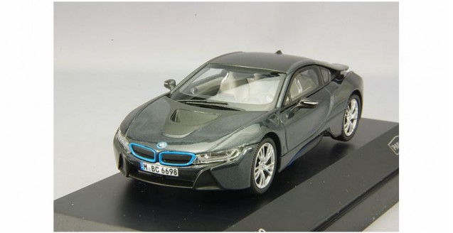 BMW I8 Grey With Blue 143 Paragon 91051
