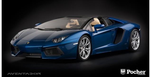 Pocher Hk103 Lamborghini Aventador Lp 700 4 Roadster Blue 1 8