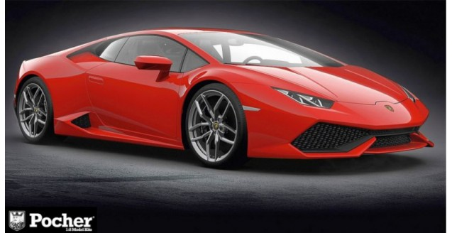 Lamborghini Huracan LP 610-4 Rosso Mars (metallic red) 1:8 Pocher HK105