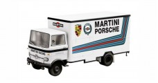 "Mercedes Benz LP 608 Truck ""MARTINI PORSCHE"" Racing White 1:43 Schuco 03520"