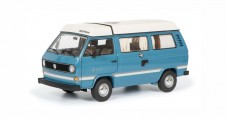 Volkswagen VW T3A Joker Camper with Folding Roof Blue / White 1:18 Schuco 450038700