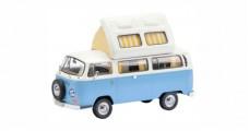 VW T2a Westfalia Camper Bus Blue White 1:43 Schuco 450348600