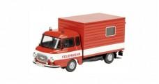 Barkas B 1000 Koffer 1961 Fireworkers Red 1:43 Schuco 450365500