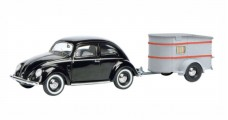 VW Brezelkäfer with Sportberger G2 black 1:43 Schuco 450389100