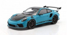Porsche 911 (991 II) GT3 RS Weissach Package Miami Blue/Black with Showcase 1:18 Spark WAP0211560J