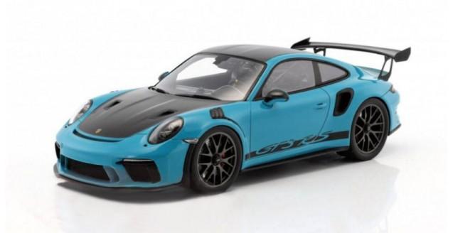 Porsche 911 (991 II) GT3 RS Weissach Package Miami Blue/Black with Showcase 1:18 Spark WAP0211560J