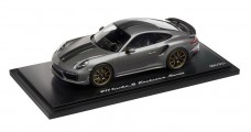 Porsche 911 Turbo S Exclusive Series Limited Edition Agate Grey Metallic 1:18 Spark WAP0219020H