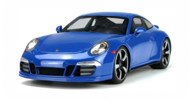 Porsche 911 (991) GTS Club Coupe Year 2015 blue 1:18 Spark WAX02100006