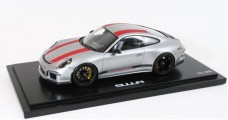 Porsche 911 (991) R Year 2016 silver/red 1:18 Spark WAX02100023