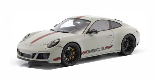 Porsche 911 (991) Carrera GTS With Showcase Grey / Red 1:18 Spark WAX02100028