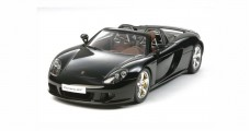 PORSCHE CARRERA GT Black Semi-Assembled Diecast Kit 1:12 Tamiya 12050