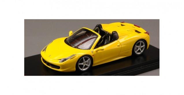 Ferrari 458 Spider 2012 Giallo Modena Yellow Fujimi 1:43 TrueScale TSM FJM124321