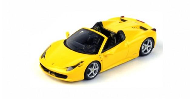 Ferrari 458 Spider 2012 Giallo Modena Yellow 1:43 Fujimi FJM124321