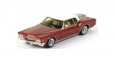 Buick Riviera Boat-Tail Red and White 1971 1:43 TrueScale TSM114332