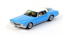 Buick Riviera Boat-Tail Blue and White 1971 1:43 TrueScale TSM114333