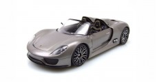 PORSCHE 918 Spyder Cabriolet Metallic Grey 1:18 Welly 18051C