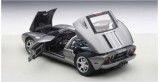 Ford GT 2004 Titanium Grey Silver Stripes 1:18 AUTOart 73025