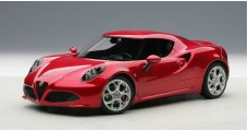 Alfa Romeo 4C Composite Model Red  1:18 AUTOart 70186