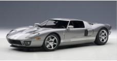 Ford GT 2004 Titanium Grey Silver Stripes 1:18 AUTOart 73025