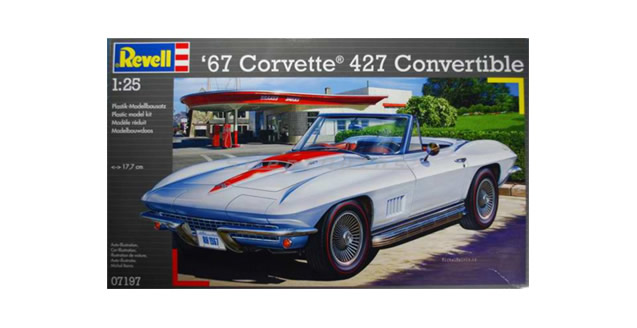 '67 Corvette 427 Convertible Kit 1:25 Revell 07197
