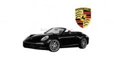 Porsche 911 Carrera S Cabriolet Black RC Rastar 47700