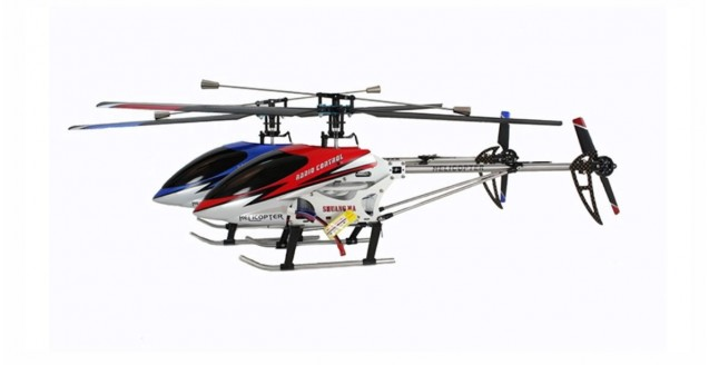 Double Horse 9104 3-Ch RC Helicopter with Gyro in Red
