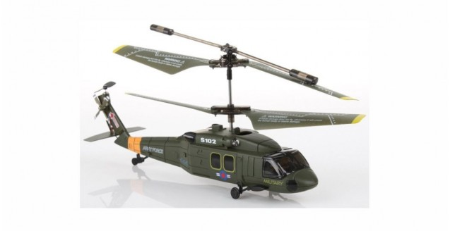 Syma S102G Black Hawk Helicopter with Gyro 3-Channel