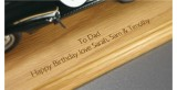 Laser Engraving into Wooden Display Base 1:43rd Scale